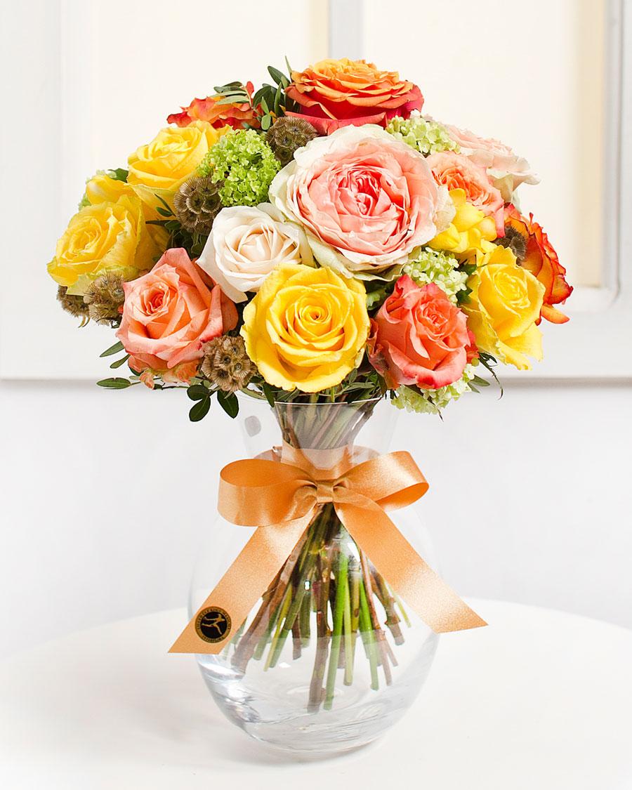 Gyönyörű rózsacsokor